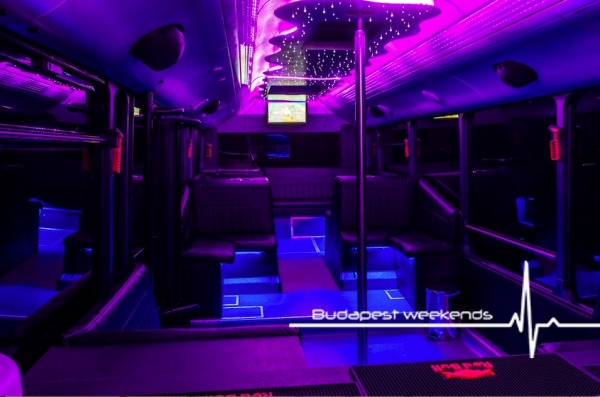 Budapest Party Bus für Teambuildings